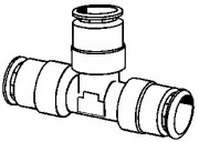 Push-To-Connect Tube Union Tee