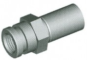Metric Female Fitting - Clip Mount - Drill Point Seat - HFMF65